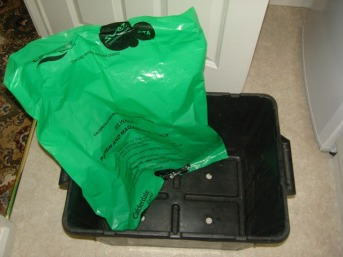 Black re-cycle box and bag