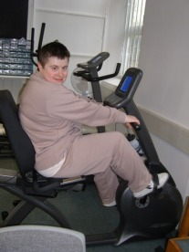 K on the exercise bike