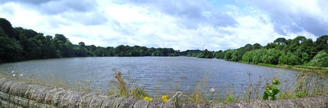 View across Lower Lake from Dam Head Bridge.