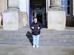Arriving at Huddersfield Station