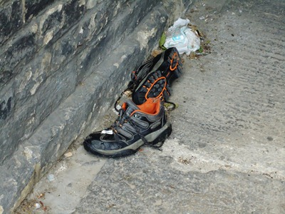 Discarded Shoes.