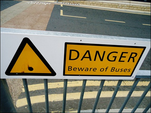 Buses warning.