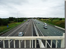 Looking down on the M62