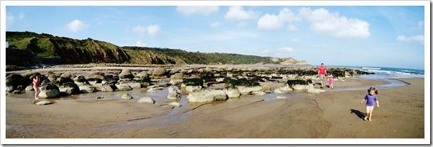 Cayton Bay rocks