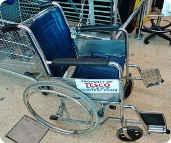 Tesco Shopping Wheelchair