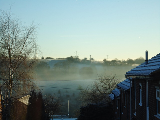 Frosty,sunny and misty