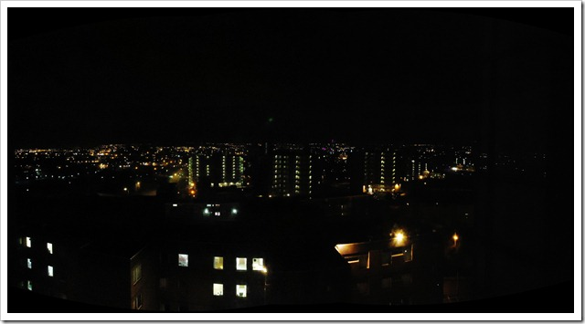 Leeds City lit up at night