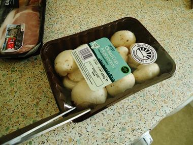 opening mushrooms
