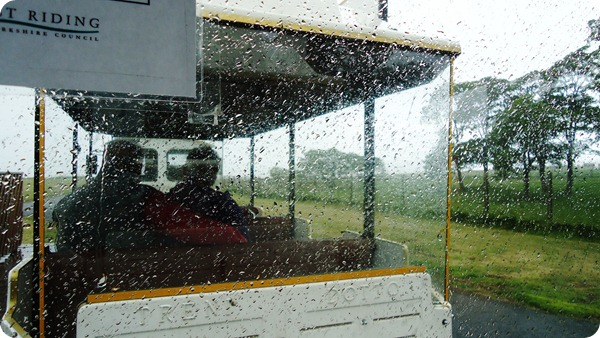 A Wet road train in Bridlington