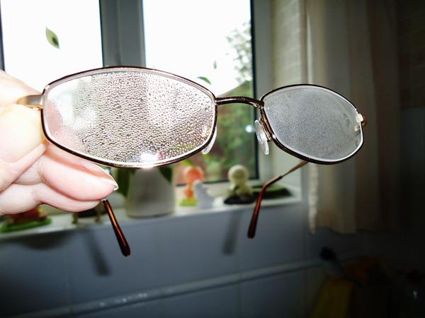 Steamed up glasses