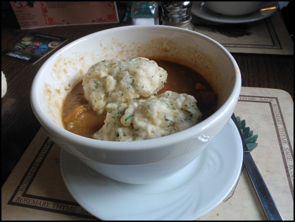 Copper Dragon Stew with Herbie Dumplings.