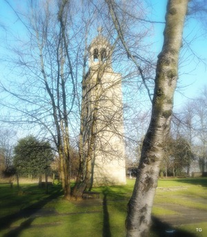 The old church tower.
