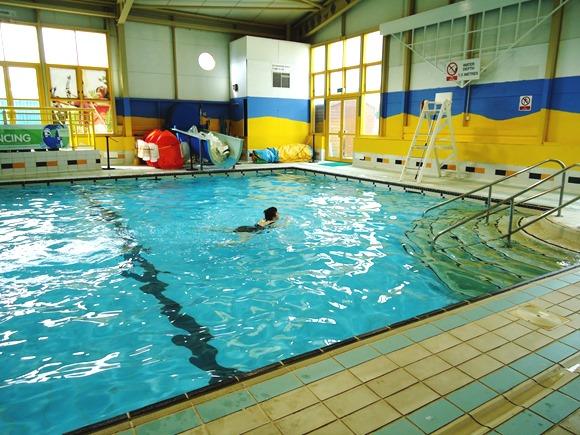 K has a swim alone
