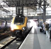 Our train arrives.