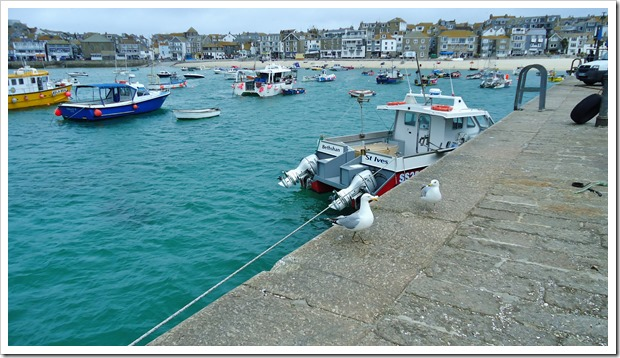 St Ives from the pier.