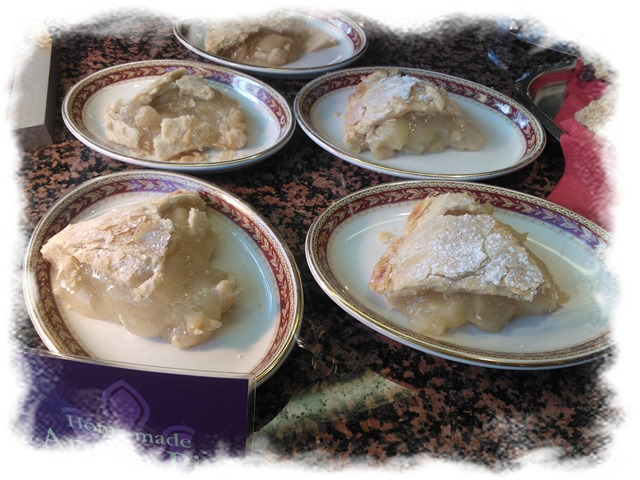 Merrie England scrumptious home made apple pie.