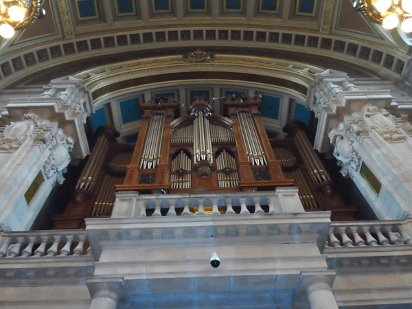 The massive organ was playing